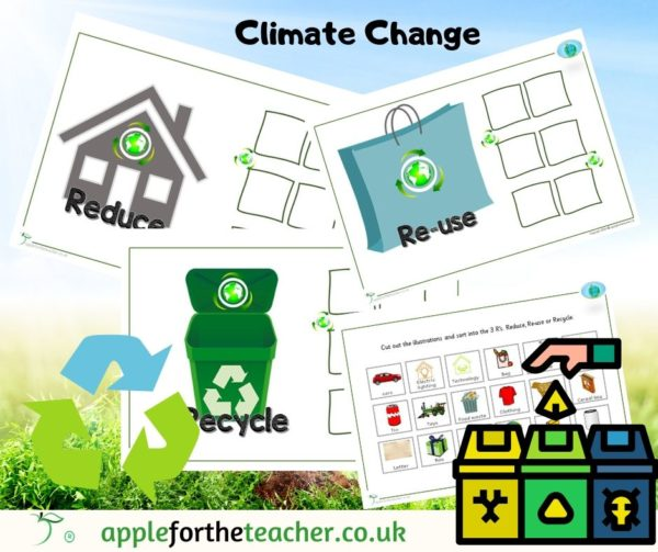 reduce reuse recycle sorting activity