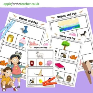rhyme and peg cards