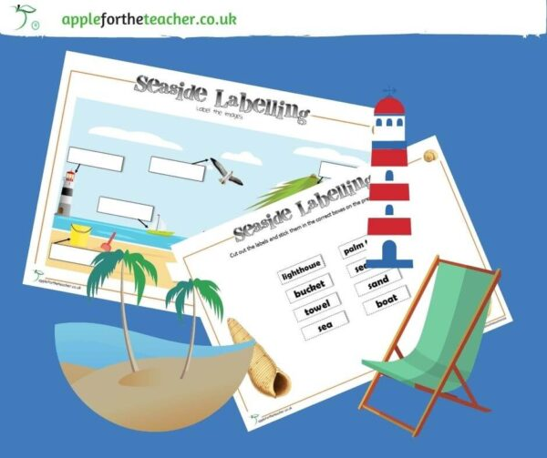 seaside labelling activity