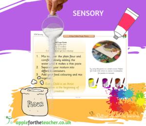 sensory edible finger paint