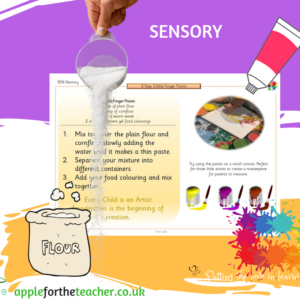 sensory edible finger paint