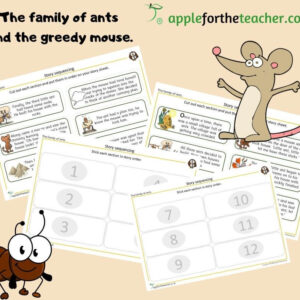 story sequencing the family of ants and the greedy mouse