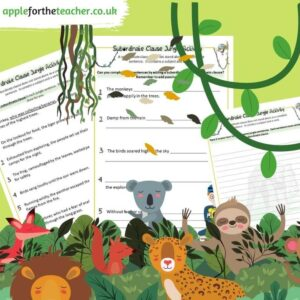 subordinate clause jungle activity KS2