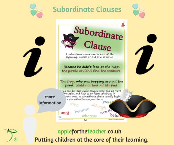subordinate clause poster