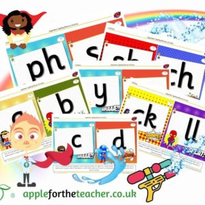 superhero phonics spell it activity