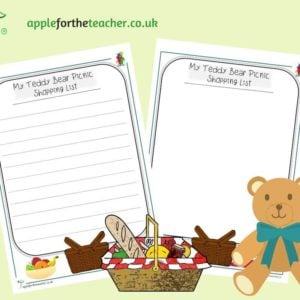 teddy bear picnic shopping list
