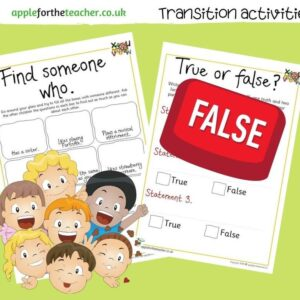 transition activities KS1