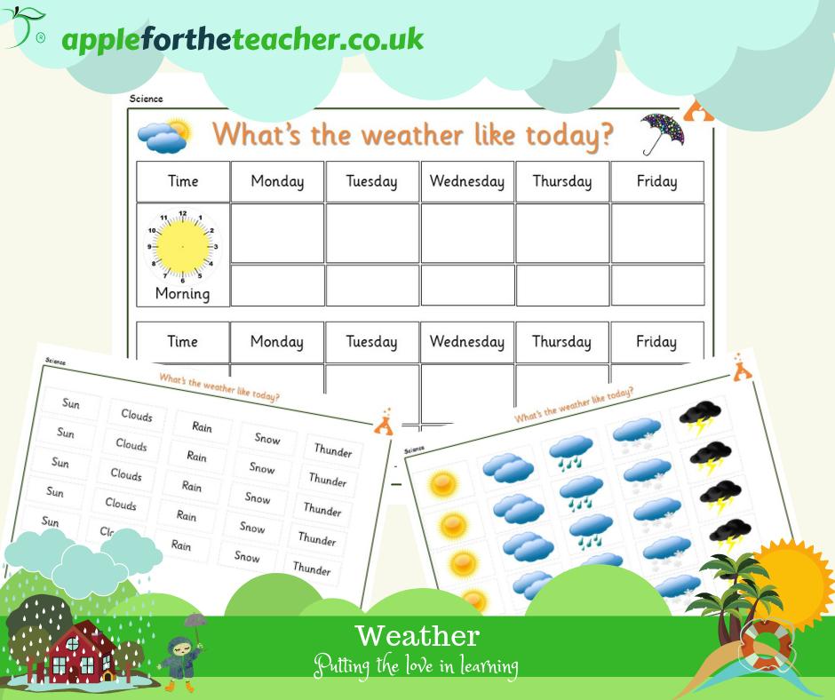Weather Chart SEN EYFS
