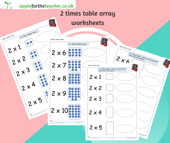 2 Times Tables Array Worksheet
