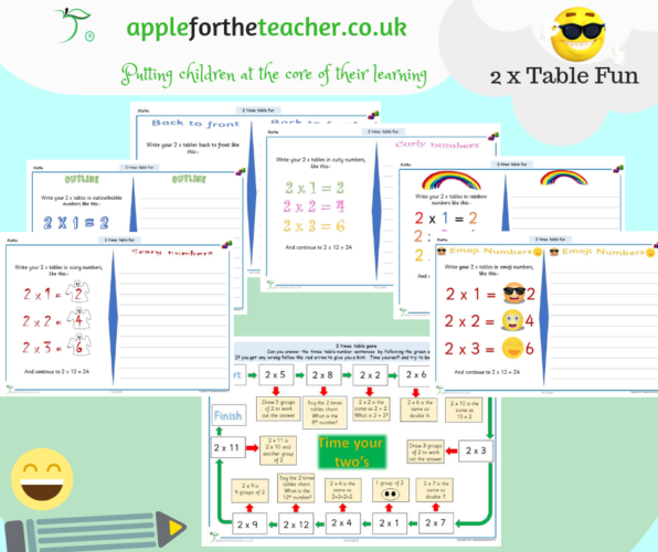 2 Times Table Activities