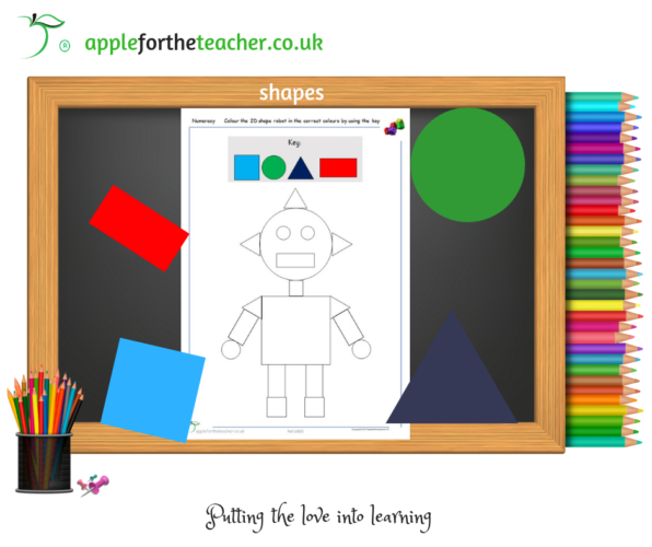 2D Shape Robot Colouring Activity