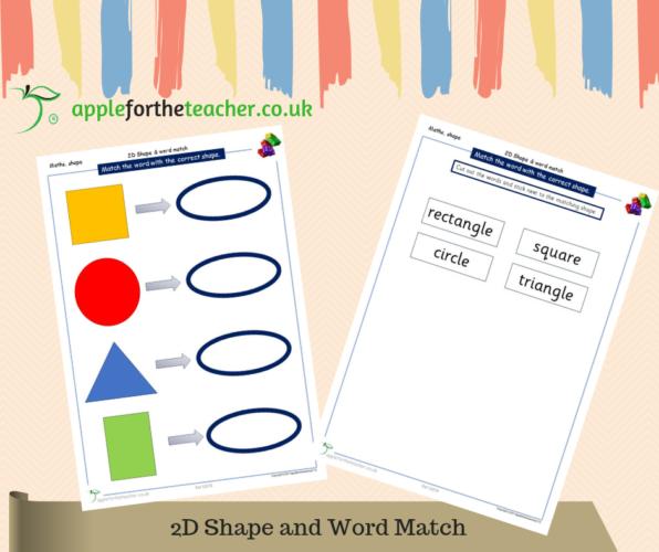 2D Shape & Word Match