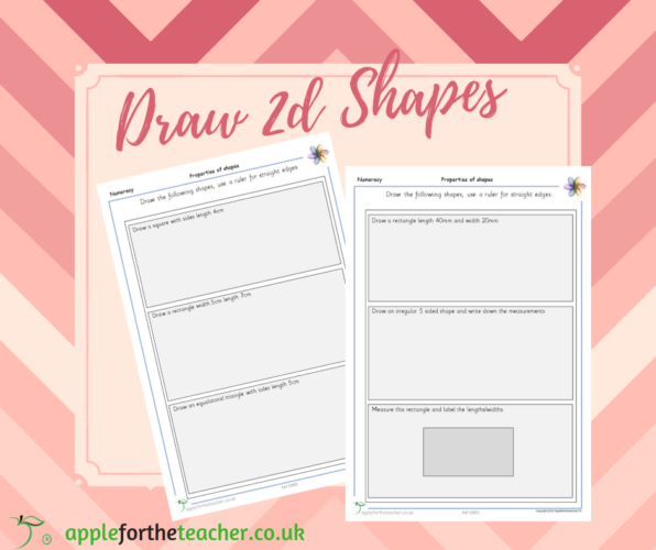 2D Shapes Draw And Measure | KS2