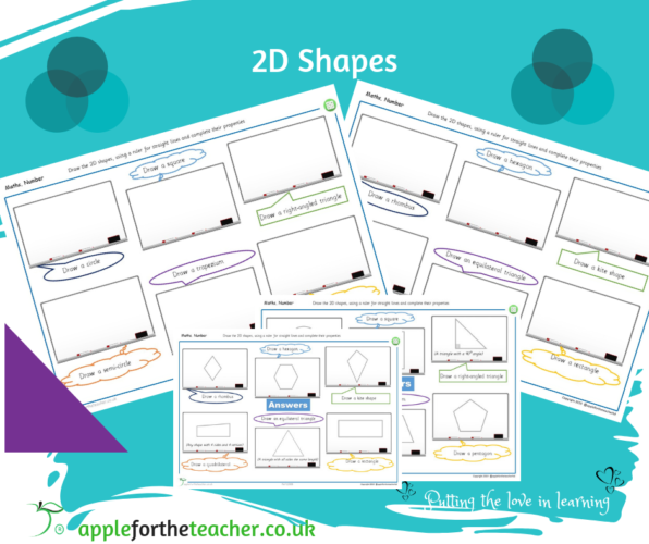 Draw 2D Shapes on Whiteboards Activity