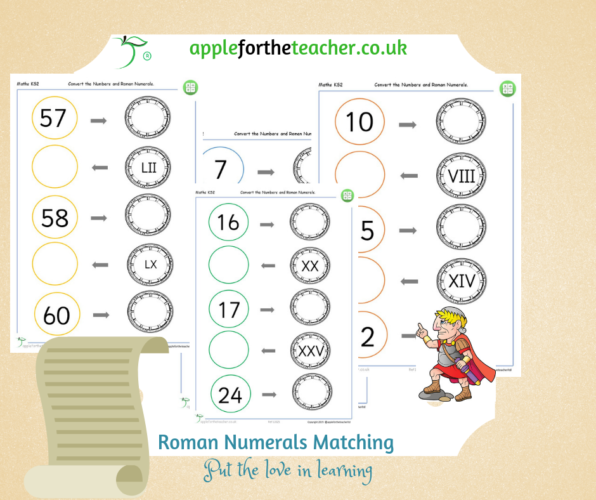 Roman Numerals Matching Activity KS2