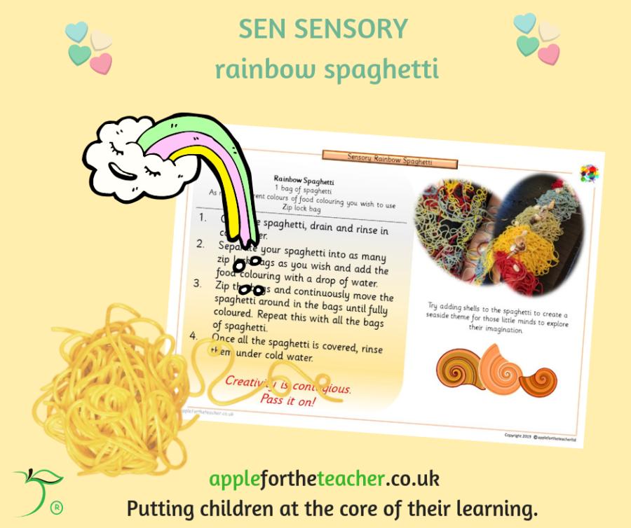 SEN Sensory Rainbow Spaghetti