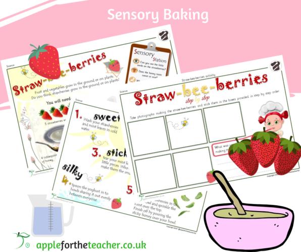 Sensory Baking Strawberry SEN EYFS