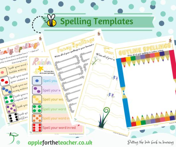 Spellings Fun Practise Sheets