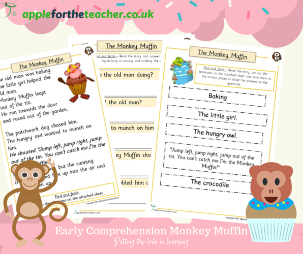 Story Monkey Muffin Early Comprehension | Apple For The