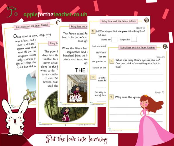 Story Ruby Rose Comprehension Higher KS1