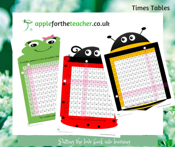Times Table Grids 2s 5s 10s