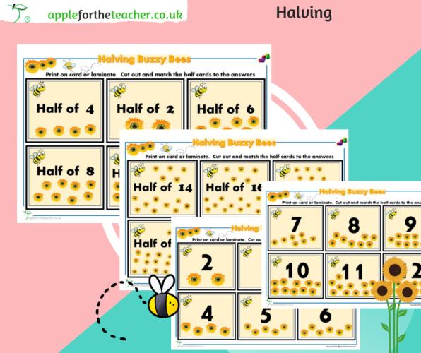 Buzzy Bee Halving Cards