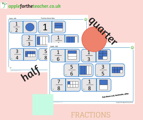 Fractions Domino Game