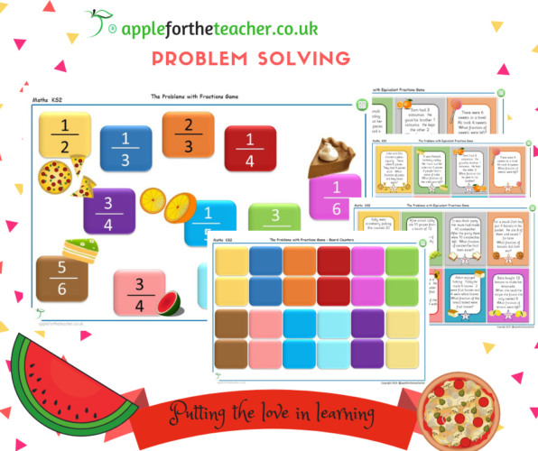 Fractions Problem Solving Game