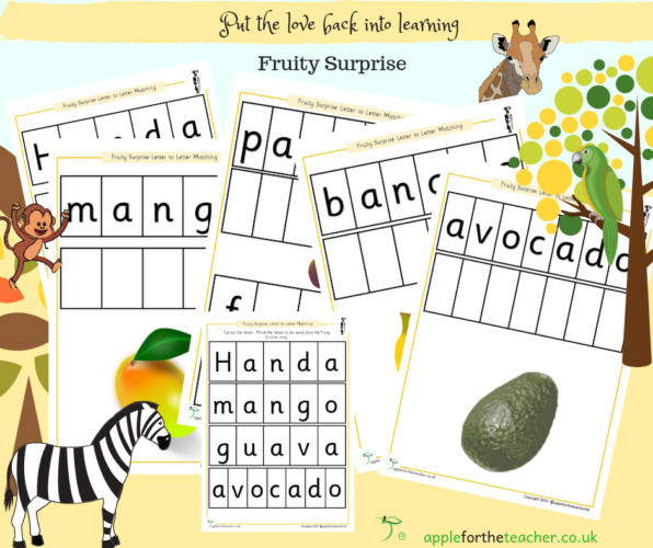 Fruity Surprise Letter to Letter Match