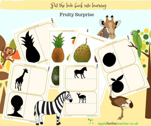 Fruity Surprise Silhouettes Activity