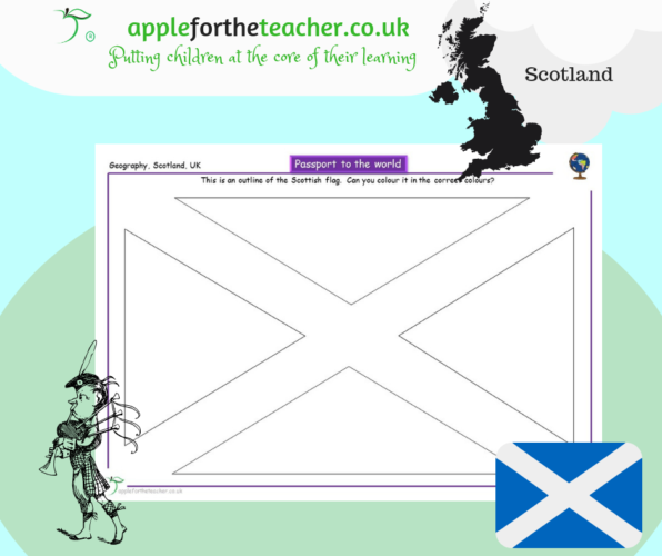 Colour The Flag - Scotland - Passport to the World