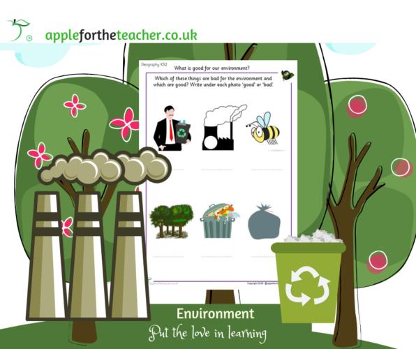 Good or bad environmental issues Worksheet