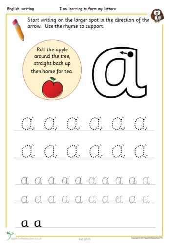 Year 1 Free Resource | Letter Aa Handwriting Sheet
