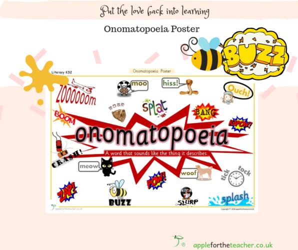 Onomatopoeia Poster   Apple For The Teacher Ltd