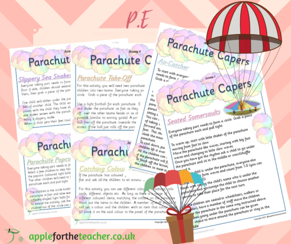 Parachute Capers PE Activity Cards