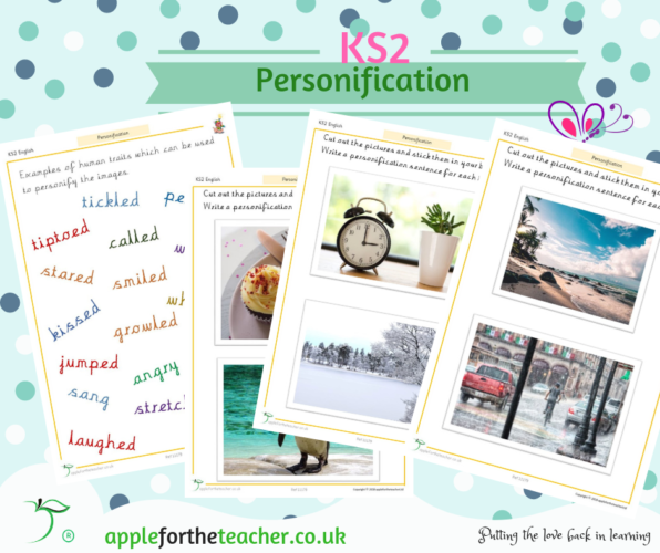 Personification Activity Image And Vocabulary