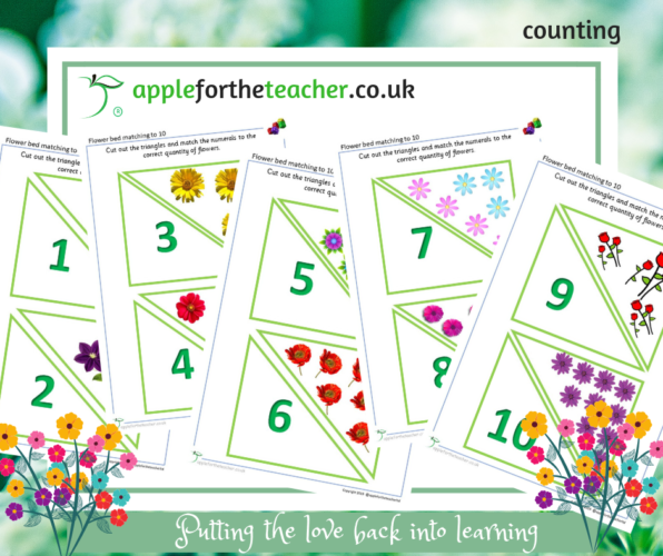Quantity to Numeral Flower Match