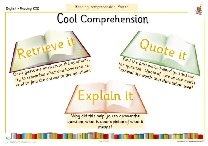 Reading Comprehension Poster | Apple For The Teacher Ltd
