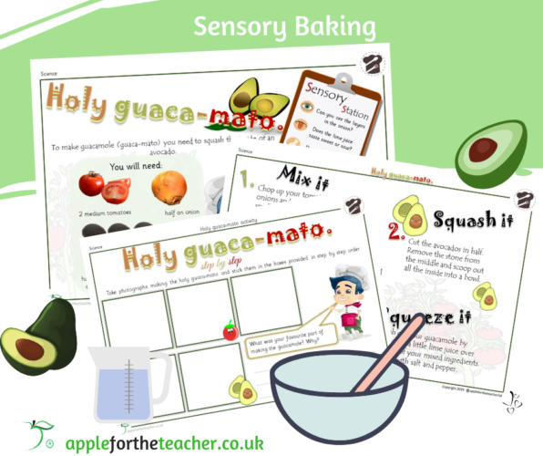 Sensory Baking Guacamole SEN EYFS