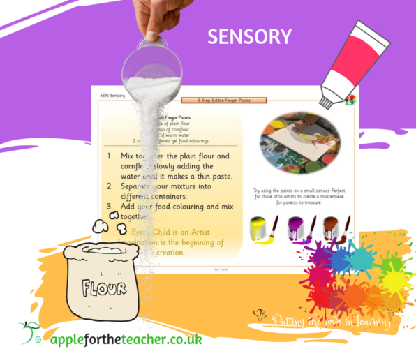 SEN Sensory Edible Finger Paints Recipe
