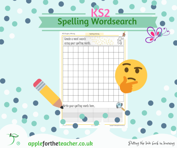 Spelling Word Search Activity