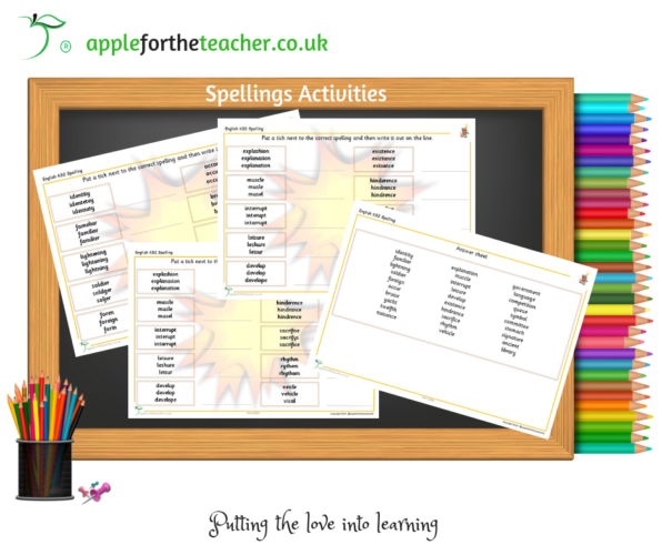 Spellings Activity Practise