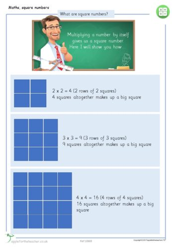 Year 5 Free Resource | Square Numbers