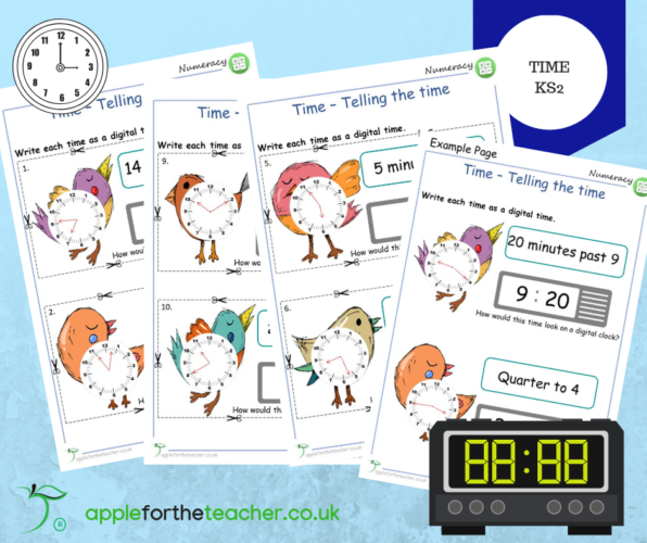 Time Analogue to Digital KS2