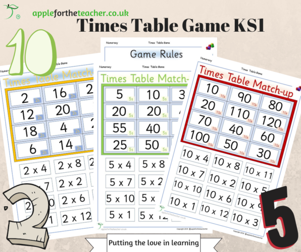 Times Table Match Up Game KS1