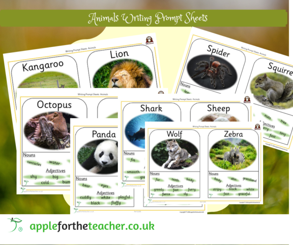 Writing Prompt Sheets Animals K To Z Literacy Science