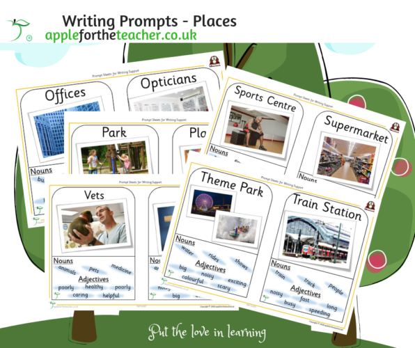 Writing Prompt Sheets Places O to Z