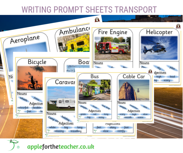 Writing Prompt Sheets Transport Literacy Geography