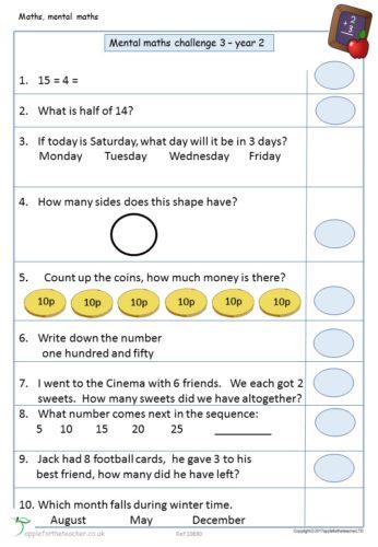 Mental Maths Challenge 4 KS1 | Apple For The Teacher Ltd