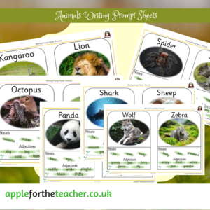 Writing Prompt Sheets Animals K to Z Literacy Science SEN KS1